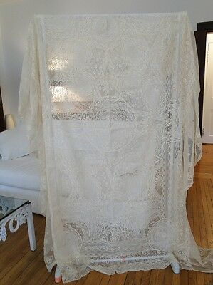 Antique Lace-Circa 1920,lavish French Normandy Lace Bedspread
