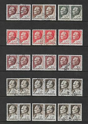YUGOSLAVIA - mixed collection, joined pairs No.19, President Tito