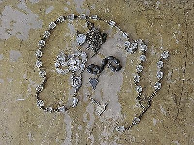 Antique Vintage Rosary Beads Antique Vintage Catholic Centerpieces As is