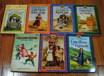 Lot of 7 Little House on the Prairie Books Rose Years Martha Years MacBride
