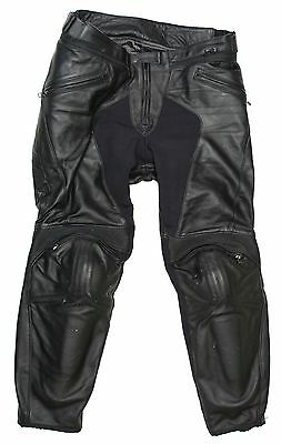 Dainese Men Pony C2 Leather Pants Road Motorcycle Padded Trousers Size 54 Black