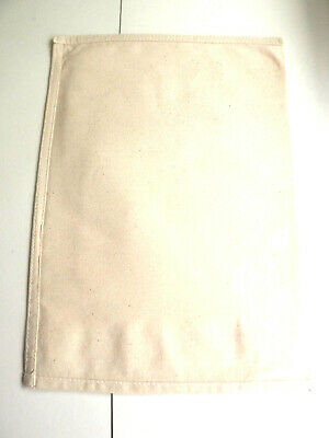 1 x WHITE STRONG Professional - Businesses Cloth Coin-Cash-Money Cotton Bags,