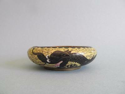 Antique Chinese Asian Enamel Cloisonne Small Dish Dragon 10cm  P/U W Footscray