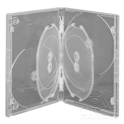 Ex-Display 6 Disc DVD CD Clear Case with Plastic Cover Storage Blu-Ray