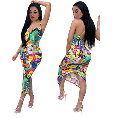 Women Jumpsuit Romper Clubwear Playsuit Bodycon Party Trousers Deep V Sleeveless