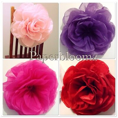 Paperbloomz Medium (25cm) Paper Roses x 5 Tissue Paper Flowers Wall Decorations