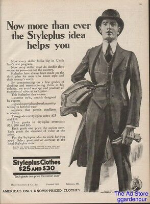1918 Styleplus Idea Helps You Mens Suit Baltimore MD Vintage Fashion Ad