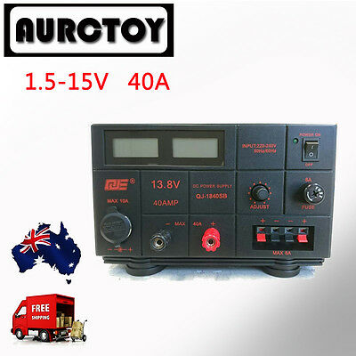 Linear Mode Variable Power Supply  40A 1.5-15V 12V 13.8V  Ham for Radio Motorola