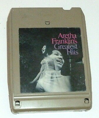 ARETHA FRANKLIN Greatest Hits 8-TRACK TAPE Tested, New Pad - R&B SOUL 1967