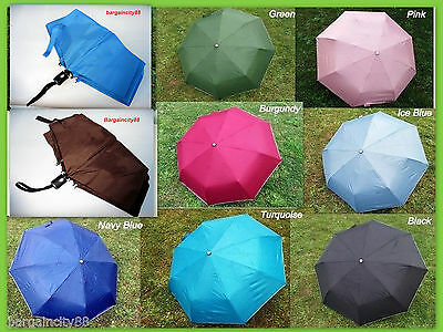 "Mens Womens Lrg 38"" Windproof Auto Automatic Open/Close Rain/Sun 3 Fold Umbrella"