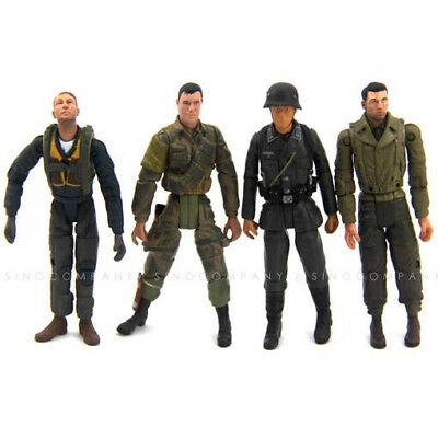 4pcs The Ultimate 1:18 Soldier WWII German USA Army For 21st Century Toys Figure