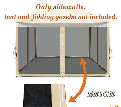 Screen Room Mesh Side Walls for 10' x10' Pop Up Canopy  SCREEN WALLS ONLY