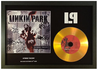 Linkin Park -Hybrid Theory - Signed Gold Disc Display
