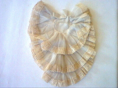 Vintage small childs fabric and lace dicky dickey dickie
