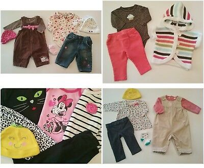 LOT Baby Girl Size NB 0/3 3/6 Months Fall Winter Mixed Clothes Outfits