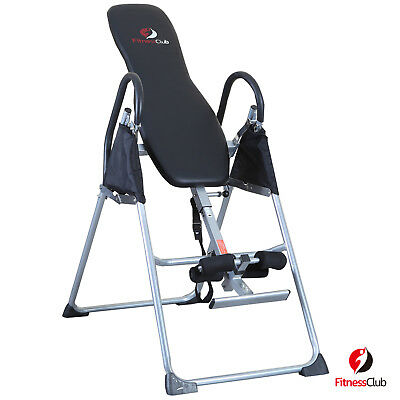 Inversion Table Deluxe Fitness Chiropractic Back Pain Relief Reflexology Black