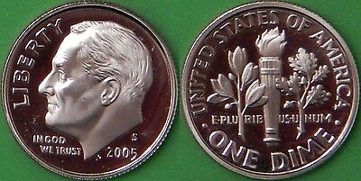 2005 US (S Mark) Roosevelt Dime Graded as Proof From Original Set