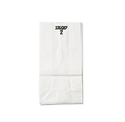 2 White Paper Bags 500 Count White Bleached Kraft Brand New Item BAGGW2500