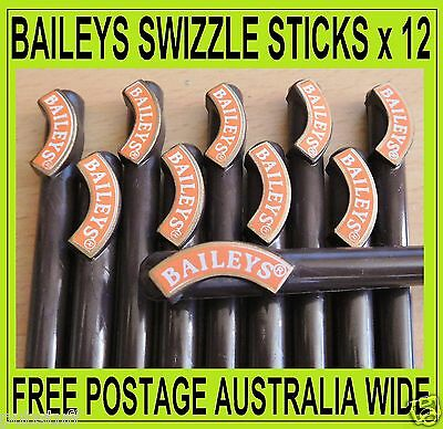 BAILEYS IRISH CREAM ~ 12 x SWIZZLE STICKS ~ FREE POSTAGE IN AUSTRALIA