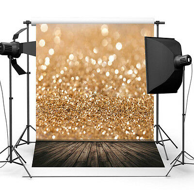 5x3ft Gold Glitter Sequins Photo Wall Backdrop Background Studio Prop Luxury NEW