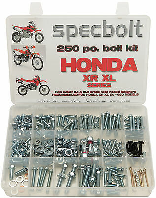 250pc Honda XR XL Bolt Kit XR100 XR185 XR200 XL250 XR250 XR400 XR500 XR600 XR650
