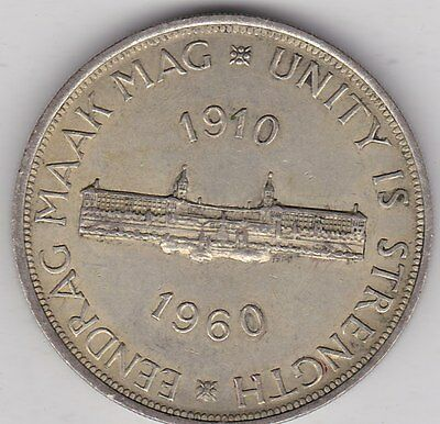 1960 South Africa 50% Silver Crown In Extremely Fine Condition