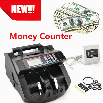 Money Counting Machine Worldwide Currency Bank Note  Counter Fake Cash Detector