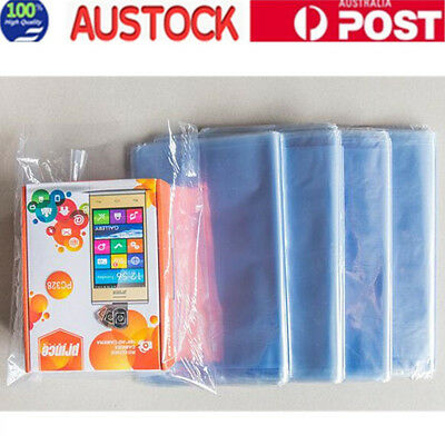 200 x Heat Shrink Bag Wrap Film Packaging Seal Gift Packing PVC Shrinkable AU