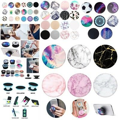 Pop out socket in iPhone Colors CLIP INCLUDED Granite Marble Print Stand Grip