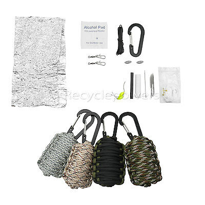 Outdoor Survival Emergency Paracord Tools Hiking Fishing Kit Camping camp LOT