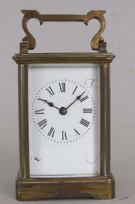 ANTIQUE CARRIAGE CLOCK good working order NEEDS TIDYING