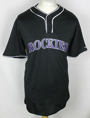 Colorado Rockies Baseball Jersey Mens Large Alleson Atheltic Beal Tree Farm