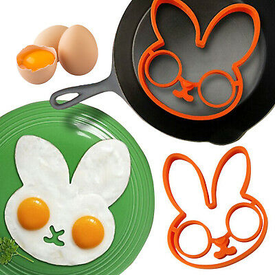 Silicone Bunny Rabbit Egg Fried Shaped Mould Shaper MoldKitchen Cooking Tool