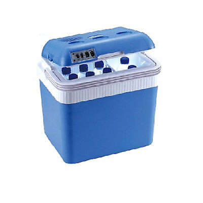 Large 24L Electric Coolbox Cooler Box Camping Beach Picnic Travel Food
