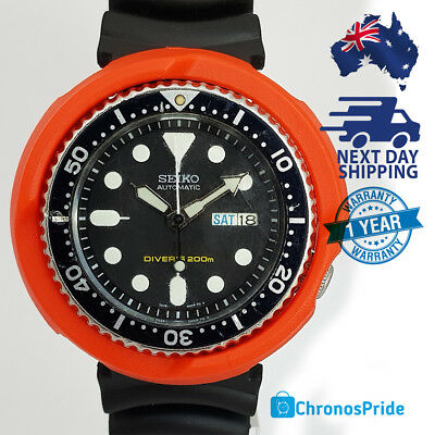 Dragonshroud 7s26 Orange Shroud fits SKX007 SKX009 011 A55 7s26 LARGE Seiko Dive
