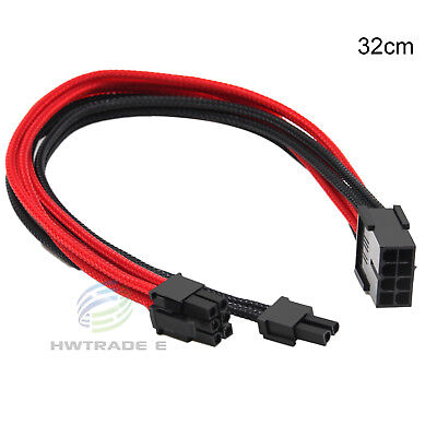 8pin Female to 8pin(6+2) Male PCI-E Extension Power for Video Graphics Card 32cm