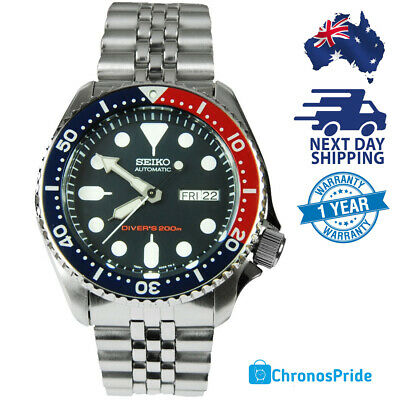 SEIKO PEPSI SKX009 SKX009K2 Stainless Steel Automatic Mens Divers Watch