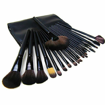24 Professional Make Up Brush Set Foundation Brushes Wooden Salon Makeup Brushes