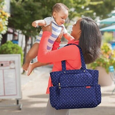 Skip Hop Forma Pack and Go - Navy Dot - NEW