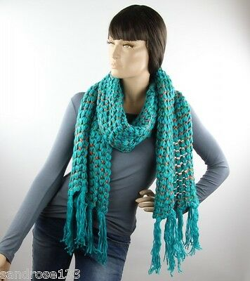 LONG KNIT SCARF with frays 289