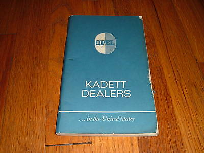 1969 Opel Kadett Dealers In The United States Guide Book Manual Opal Kadet RARE