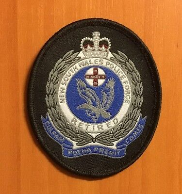 New South Wales Police Force Retired Woven Patch