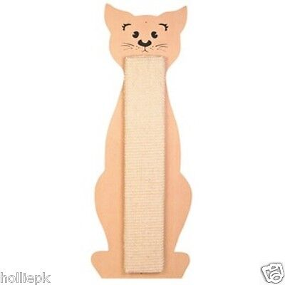 Trixie Cat Shaped Wall Or Floor Cat Kitten Sisal Scratch Board With Catnip 43161