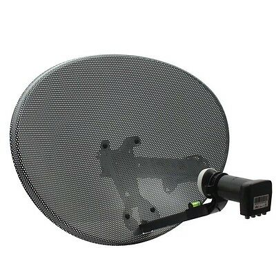 GENUINE SKY Zone 1 Dish with Quad LNB + Wall Mount Bracket for SKY or FREESAT