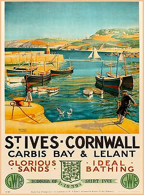 St. Ives - Cornwall England Great Britain Vintage Travel Advertisement Poster