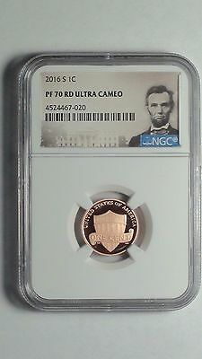 2016-S Lincoln Shield Cent NGC PF 70 RD ULTRA CAMEO *Portrait*   1c  #020