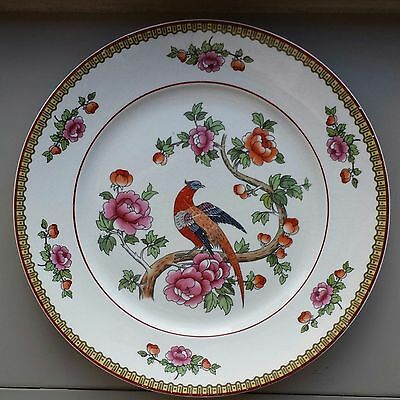 Vintage Smith Phillips Semi Porcelain USA Orador Pheasant Pink Floral Plate