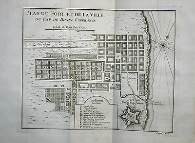 Plan of Cape of Good Hope - South Africa - Bellin 1746-53