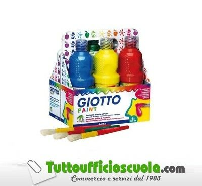 Tempera Pronta Giotto Schoolpack Flaconi Da 500 Ml Cf. 6 Pezzi  Assortiti 533200