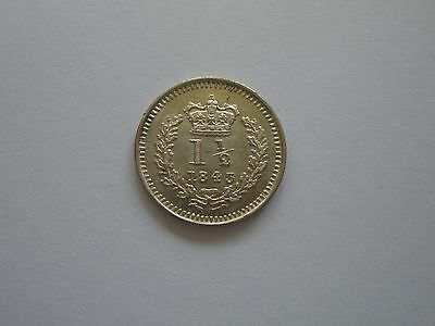 1843 Queen Victoria Silver Threehalfpence - Bu - Uk Post Free